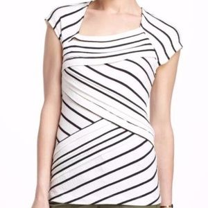 Anthropologie Postmark Slanted Layers Striped Top